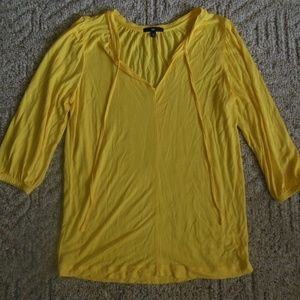 NEW GAP XS Lemon Yellow Knit Top Shirt VNeck Top